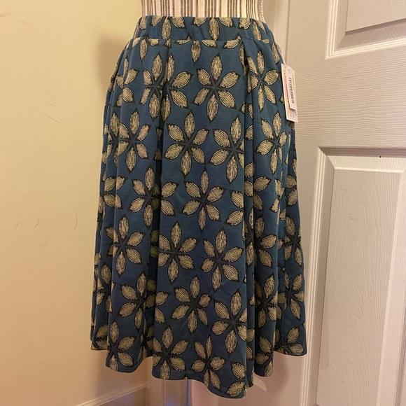 Madison Lularoe Skirt Blue Elastic Waist Pockets